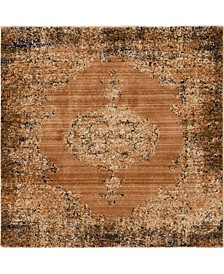 "Thule Thu2 Light Brown 4' 5"" x 4' 5"" Square Area Rug"