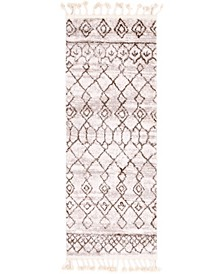 """Levia Lev1 Brown 2' 4"""" x 6' Runner Area Rug"""