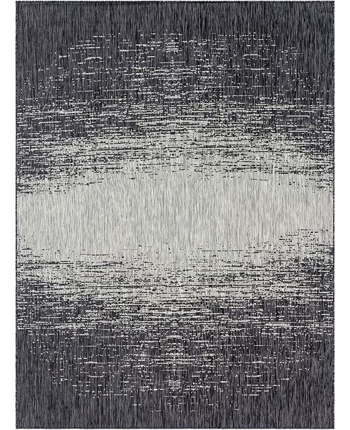 Bridgeport Home Pashio Pas7 Charcoal Gray 9' x 12' Area Rug