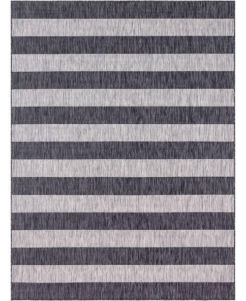 Bridgeport Home Pashio Pas7 Charcoal Gray 9' x 12' Area Rug