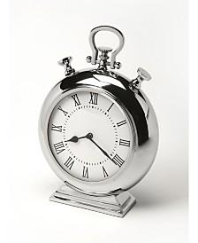 Butler Alistair Nickel Desk Clock