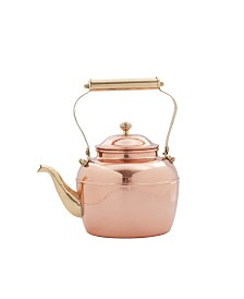 Old Dutch International Solid Copper Tea Kettle with Brass Handle, 2.5-Quart