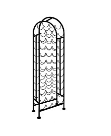 Old Dutch International 47 Bottle Metal Matte Black Wine Rack, RTA