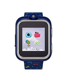 PlayZoom Kids Smartwatch with Navy Cars Printed Strap