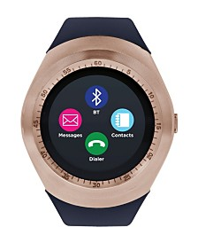 iTouch Curve Smartwatch Rose Gold Case with Navy Strap