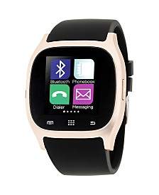 iTouch Smartwatch Rose Gold Case with Black Strap
