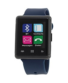 Air Smartwatch 45mm Black Case with Navy Strap