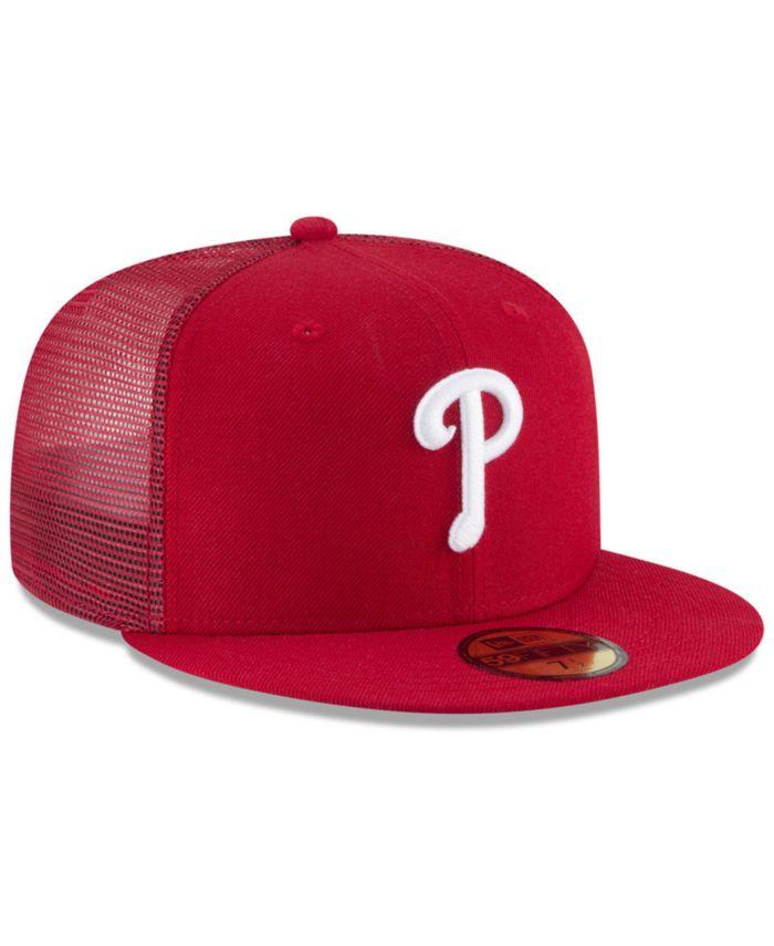 New Era Philadelphia Phillies On-Field Mesh Back 59FIFTY Fitted Cap & Reviews - Sports Fan Shop By Lids - Men - Macy's
