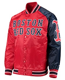 Men's Boston Red Sox Dugout Starter Satin Jacket