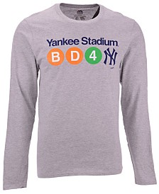 Majestic Men's New York Yankees Iconic Local Long Sleeve T-Shirt