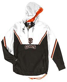 Mitchell & Ness Men's San Francisco Giants Anorak Half-Zip Pullover