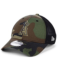 Los Angeles Angels Camo Trucker 39THIRTY Cap