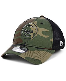 Chicago Cubs Camo Trucker 39THIRTY Cap