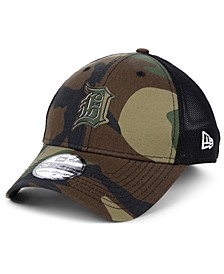 Detroit Tigers Camo Trucker 39THIRTY Cap