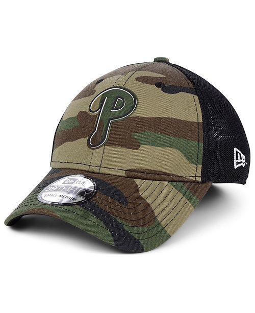 fb2a36431 Philadelphia Phillies Camo Trucker 39THIRTY Cap