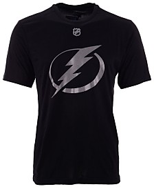 Authentic NHL Apparel Men's Brayden Point Tampa Bay Lightning Synthetic Stack Name and Number T-Shirt