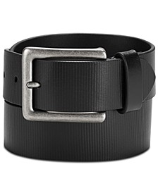 Men's Textured Leather Belt