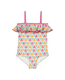 Masala Baby Girls Ruffled One Piece Mosaic