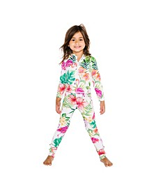 Masala Baby Little and Big Girls Leggings Flamingo Island
