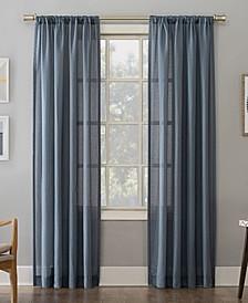 """Amalfi 54"""" X 95"""" Linen Blend Textured Sheer Curtain Panel"""