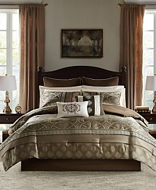 Madison Park Essentials Zara Queen 16 Piece Jacquard Complete Bedding Set With 2 Sheet Sets