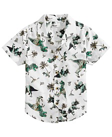 Epic Threads IT LIST Toddler Boys Dino-Print Cotton Shirt, Created for Macy's