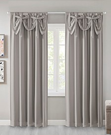 "Vivian Total Blackout Rod Pocket 50"" x 63"" Window Panel with Attached Bow Tie Valance"