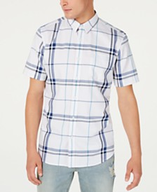 American Rag Men's Mack Regular-Fit Plaid Shirt, Created for Macy's