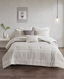 Lizbeth 5-Pc. Cotton Clip Jacquard Bedding Sets