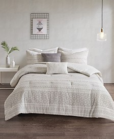 Urban Habitat Lizbeth 5-Pc. Cotton Clip Jacquard Bedding Sets