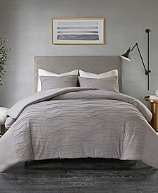CLOSEOUT! Dion Full/Queen 3 Piece Cotton Blend Jersey Knit Duvet Cover Set