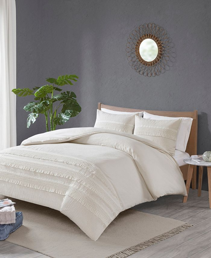 Intelligent Design - Madison Park Amaya 3-Pc. Cotton Seersucker Bedding Sets