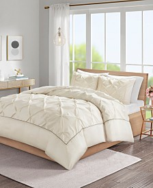 Madison Park Laurel 3-Pc. Tufted Duvet Cover Sets