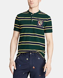 Men's Custom Fit Stripe Rugby Henley