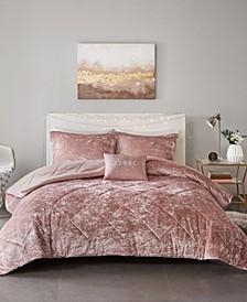 Felicia Twin/Twin XL 3-Pc. Velvet Comforter Set