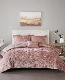 Intelligent Design Felicia Twin/Twin XL 3-Pc. Velvet Comforter Set