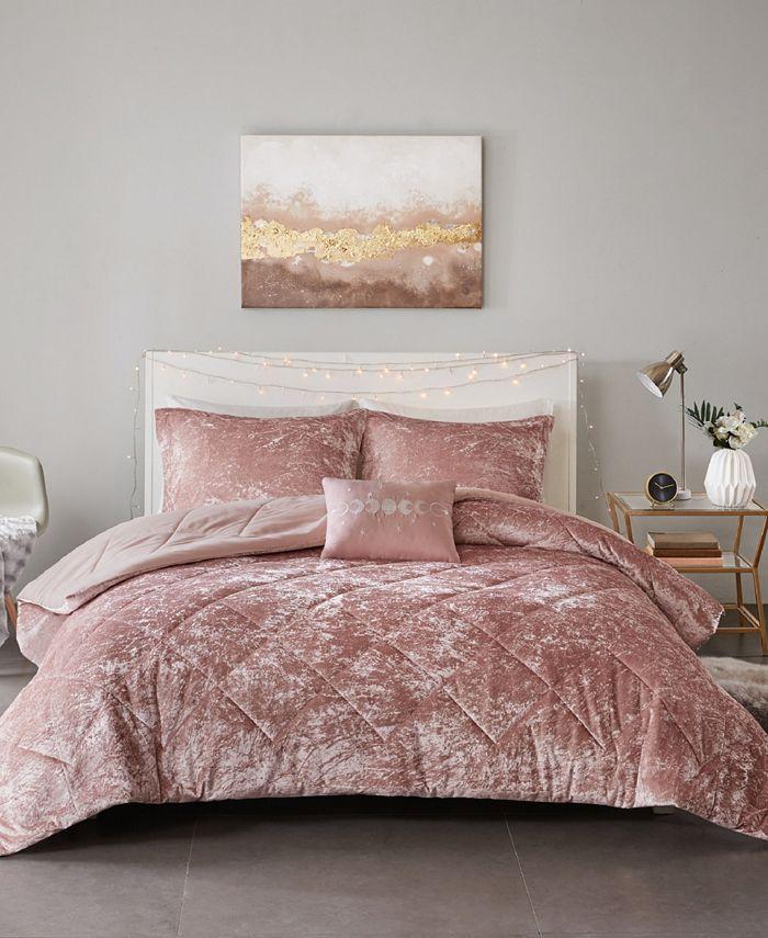 Intelligent Design - Felicia 4-Pc. Velvet Comforter Sets