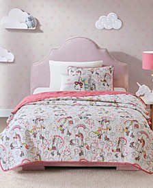 Peggy Full/Queen 4 Piece Reversible Coverlet Set