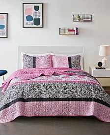 Mi Zone Ophelia Full/Queen 3 Piece Reversible Coverlet Set