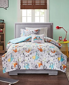 Mi Zone Kids Raff Twin 3 Piece Sloth Printed Comforter Set
