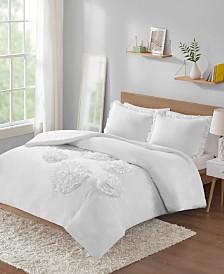 Intelligent Design Ella Twin/Twin XL Solid Ruffle Floral 2 Piece Comforter Mini Set