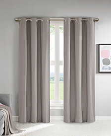"""510 Design Lisa 37"""" x 63"""" Solid Theater Grade Total Blackout Curtain Pair"""