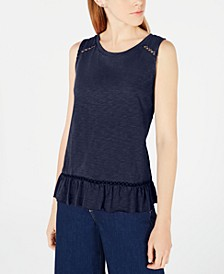 Ruffled Cross-Over Back Top, Created for Macy's