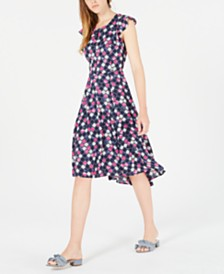 Maison Jules Printed High-Low Dress, Created for Macy's