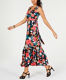 Thalia Sodi Ruffled Floral-Print Maxi Dress, Created for Macy's