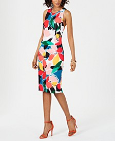 Printed Crisscross-Back Sheath