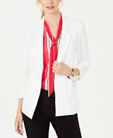 Nine West Notch-Collar Crepe Jacket
