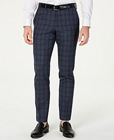 HUGO Hugo Boss Men's Slim-Fit Blue Glen Plaid Suit Pants