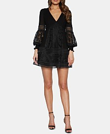 Bardot Lace V-Neck Dress