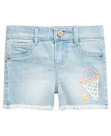 Epic Threads Toddler Girls Ice Cream Cone Denim Shorts, Created for Macy's
